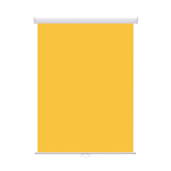 "Retractable Photo Backdrop White Casing,  36"" x 48"" - YELLOW - All Things Identification"