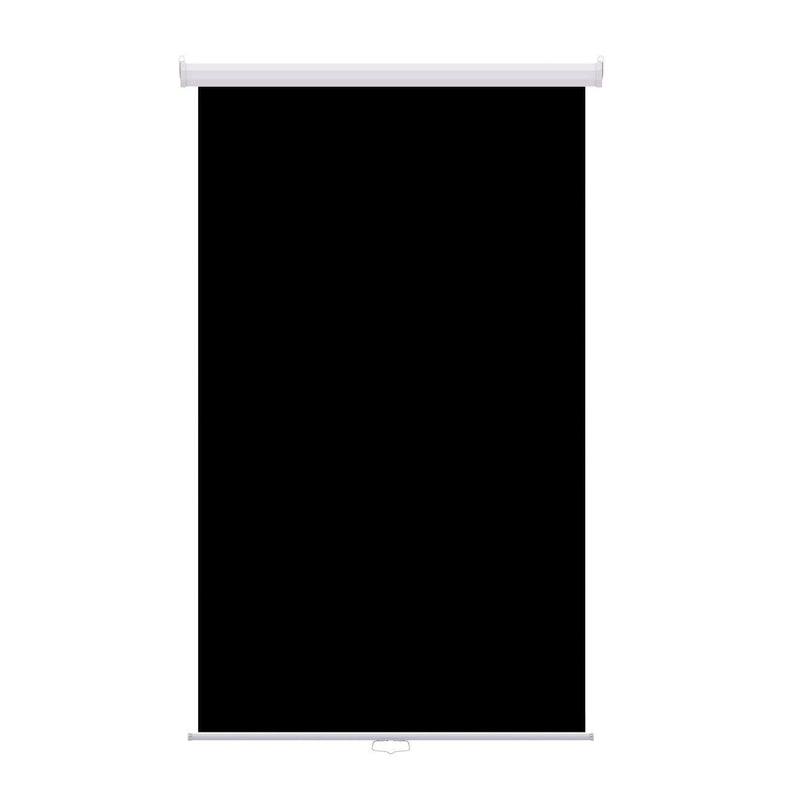 "Retractable Photo Backdrop White Casing,  48"" x 84"" - BLACK - All Things Identification"