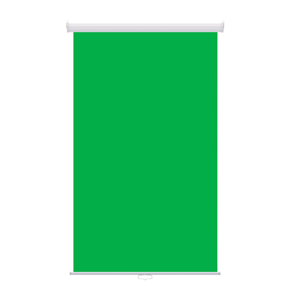 "Retractable Photo Backdrop, White Casing, 48"" x 84"" - GREEN SCREEN - All Things Identification"