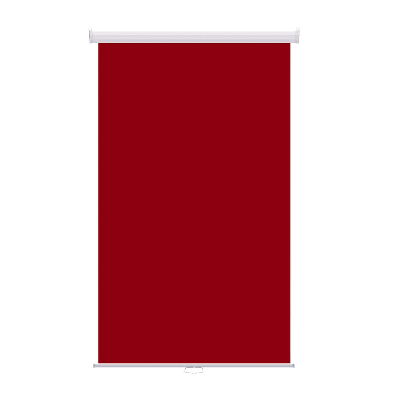 "Retractable Photo Backdrop White Casing,  48"" x 84"" - RED - All Things Identification"
