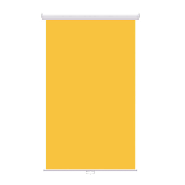 "Retractable Photo Backdrop White Casing,  48"" x 84"" - YELLOW - All Things Identification"