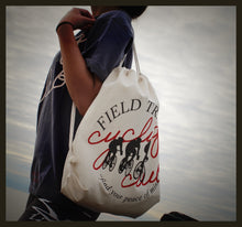 Load image into Gallery viewer, Cycling Club Canvas Drawstring Bag