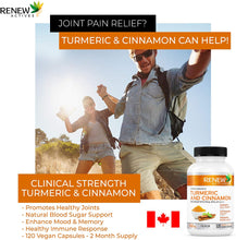 Load image into Gallery viewer, Turmeric Curcumin & Cinnamon - 120 Capsules