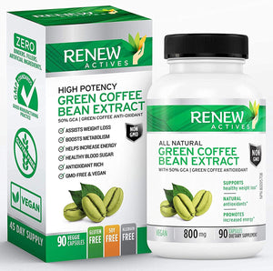 Green Coffee Bean Extract 800mg Capsules