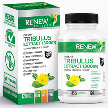 Load image into Gallery viewer, Tribulus Terrestris w. 45% Saponins - 120 Capsules
