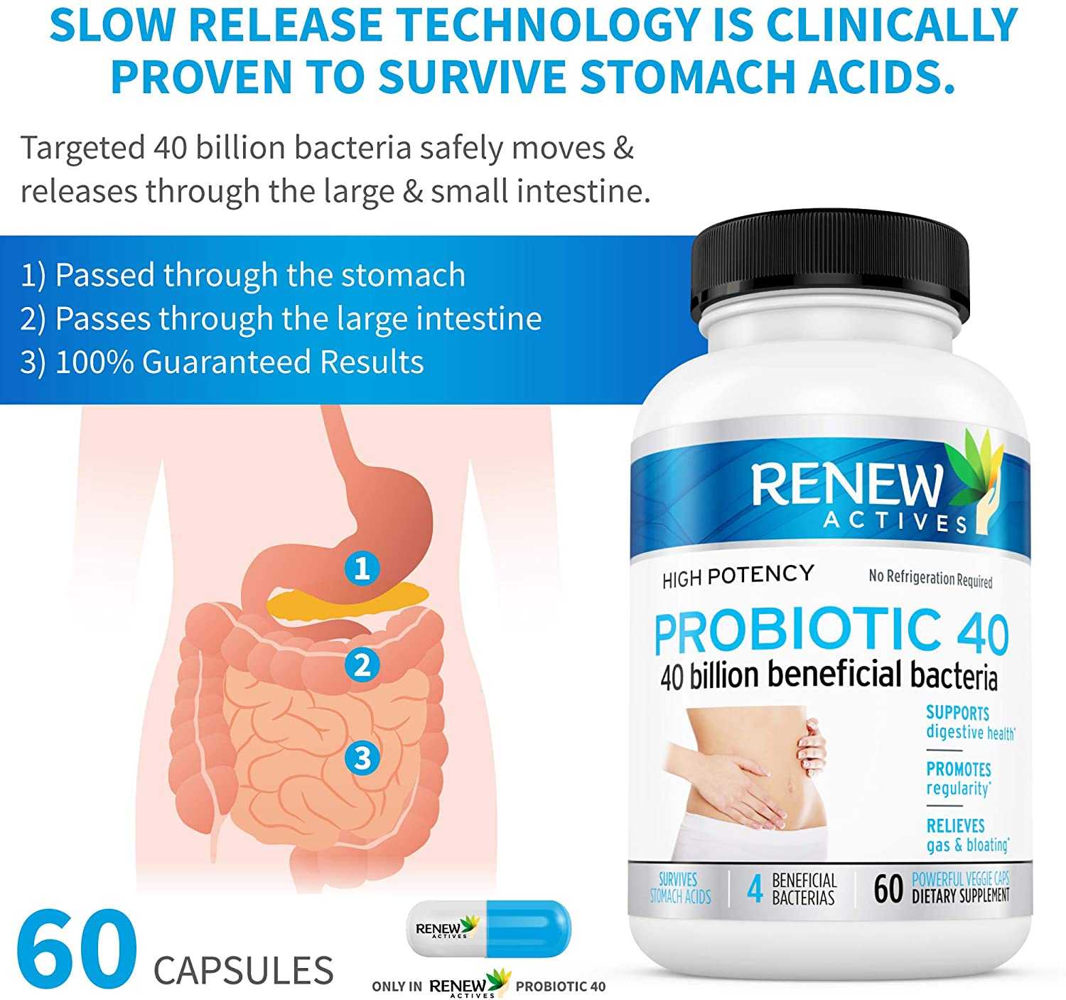 Probiotic 40 Billion - 60 Capsules