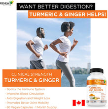 Load image into Gallery viewer, Organic Turmeric W. Ginger & Black Pepper - 60 Capsules