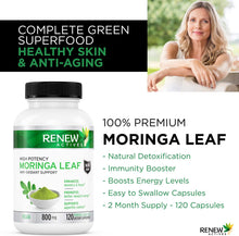 Load image into Gallery viewer, Moringa Leaf 800mg - 120 Capsules