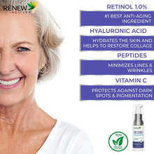 Load image into Gallery viewer, Pure 1% Retinol Serum for Face with Hyaluronic Acid & Vitamin C