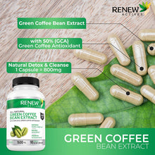 Load image into Gallery viewer, Green Coffee Bean Extract 800mg Capsules
