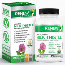 Load image into Gallery viewer, Organic Milk Thistle - 120 Capsules