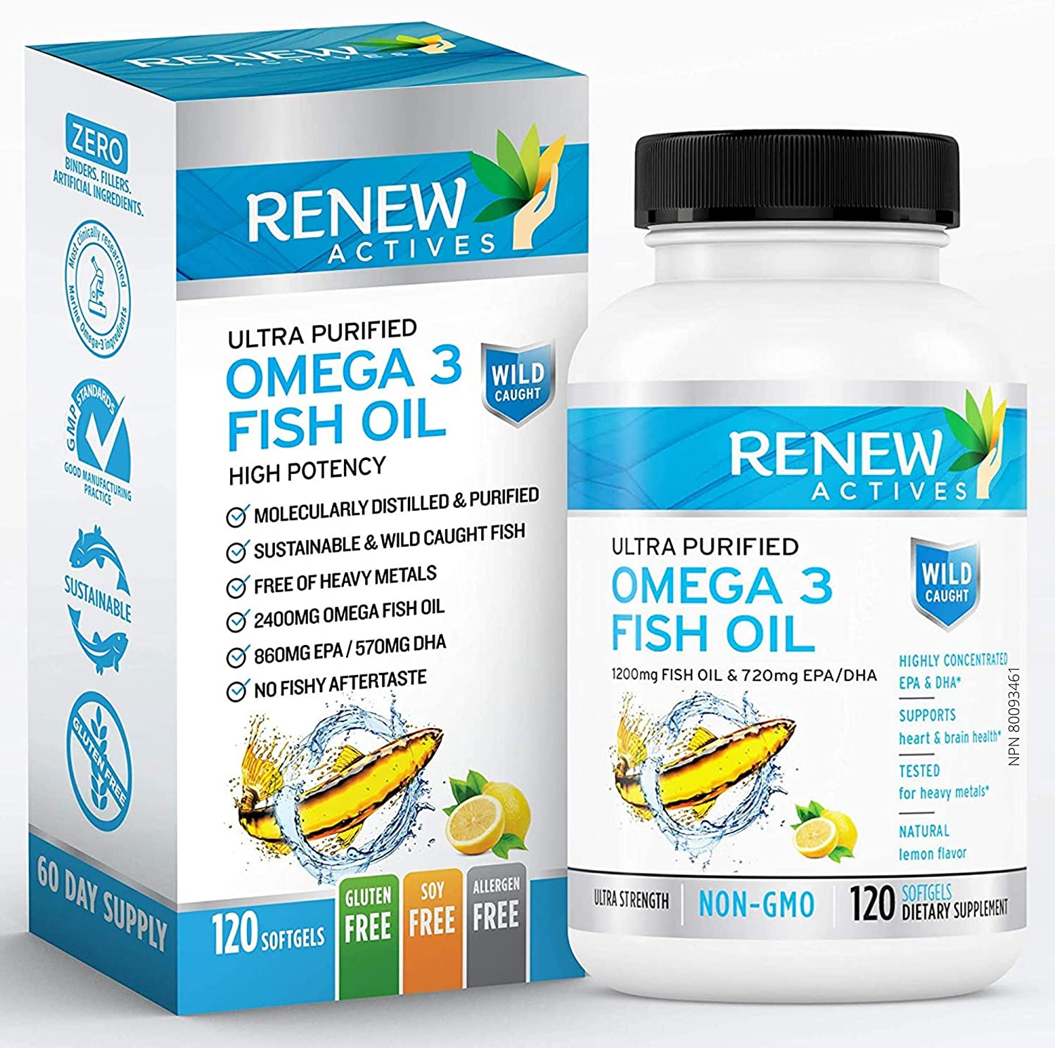 Omega-3 Fish Oil - 120 Softgels