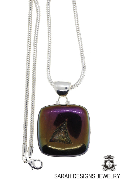 Drusy Pendant 4mm Snake Chain P1253
