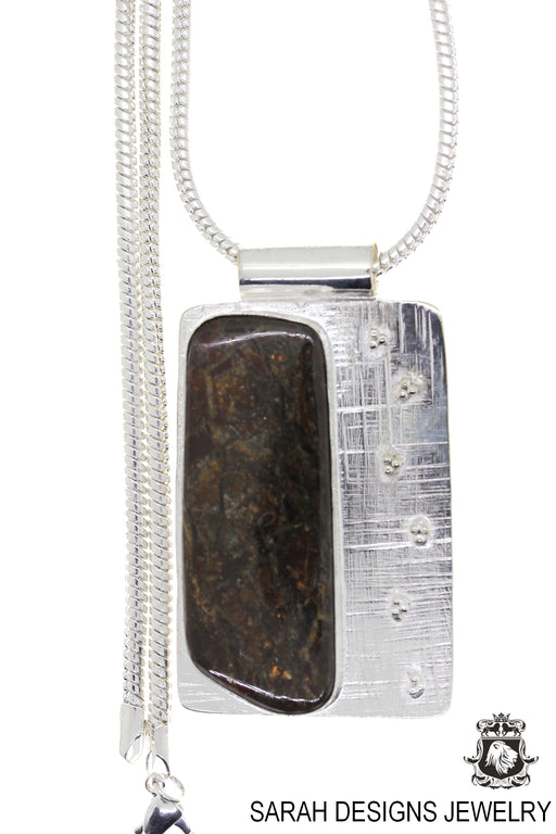 Ammolite 925 Sterling Silver Pendant 4mm Snake Chain P1567