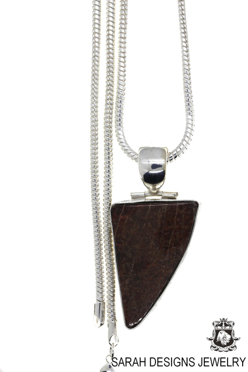 Ammolite 925 Sterling Silver Pendant 4mm Snake Chain P2009
