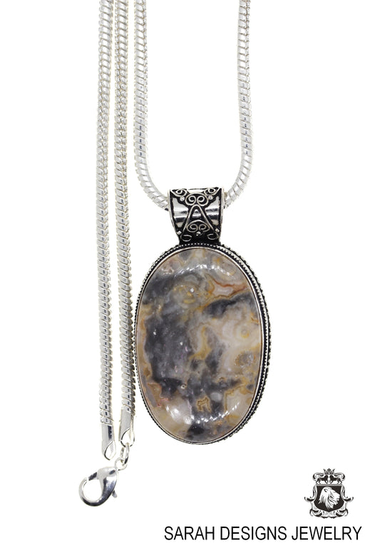 Agate Pendant 4mm Snake Chain P3370