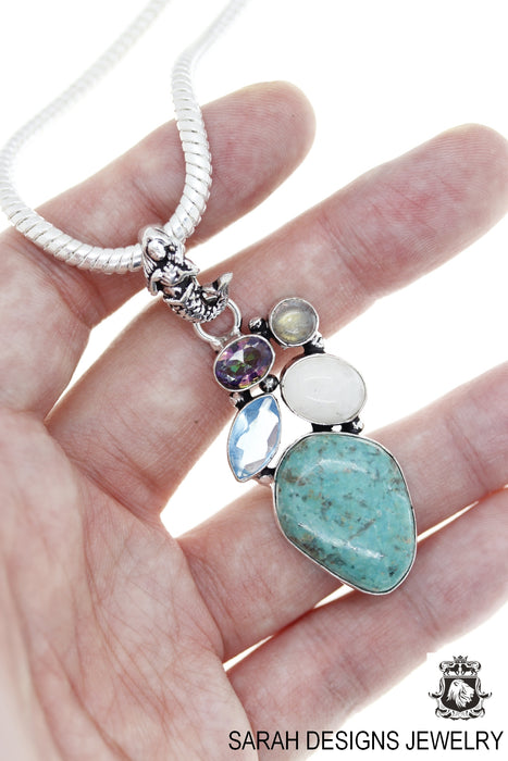 Turquoise Pendant 4mm Snake Chain P4723
