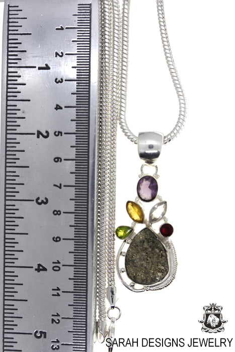 Pyrite Pendant 4mm Snake Chain P4725