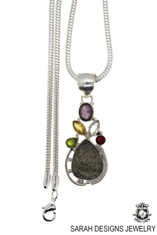 Pyrite Pendant 4mm Snake Chain P4789