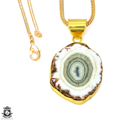 Clear Quartz Stalactite 24K Gold Plated Pendant 3mm Snake Chain GPH1198