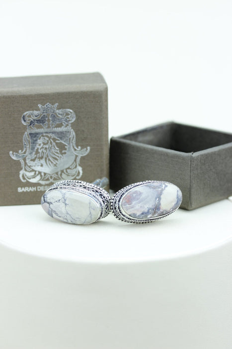 Bertrandite Tiffany Jasper Cufflinks K544