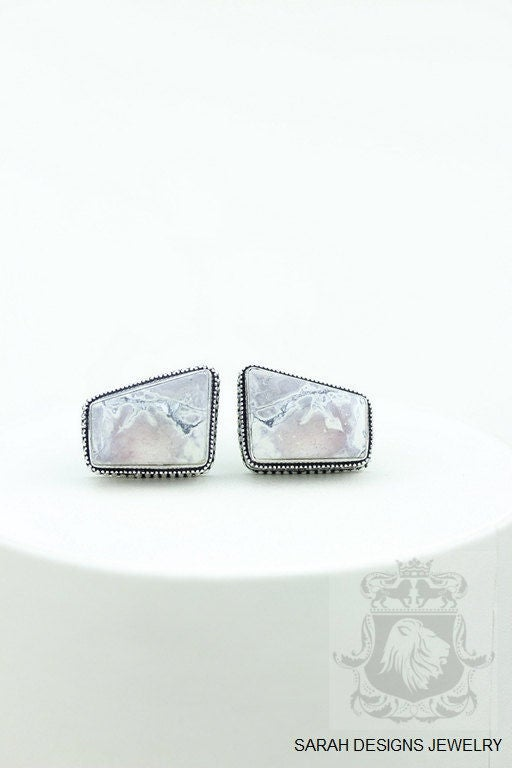 Utah Mined BERTRANDITE Tiffany Jasper Vintage Filigree Antique 925 Fine S0LID Sterling Silver Men's / Unisex CUFFLINKS K679