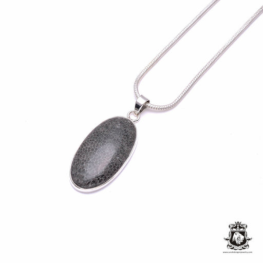 STINGRAY Coral Fine 925+ 975 S0LID Sterling Silver Pendant + Snake Chain P6226