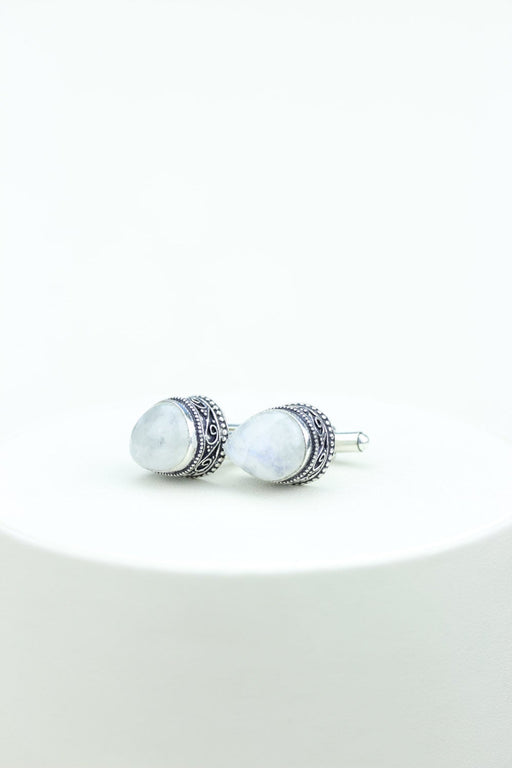 Moonstone Vintage Filigree Antique 925 Fine S0LID Sterling Silver Men's / Unisex CUFFLINKS k532