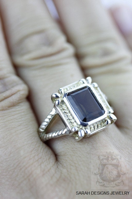 Size 7.5 Smokey Topaz Sterling Silver Ring r235
