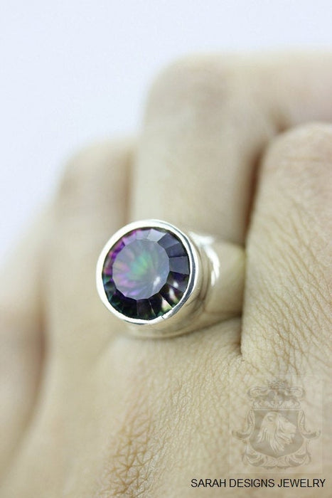 Size 7 Mystic Topaz Sterling Silver Ring r367