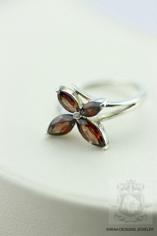SIZE 7 AFRICAN GARNET (Nickel Free) 925 Fine Sterling Silver Ring & Free Worldwide Express Shipping r20