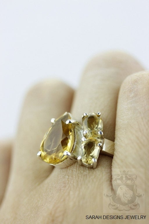 SIZE 6.5 MARQUISE Cut CITRINE (Nickel Free) 925 Sterling Silver Ring & Worldwide Express Shipping r340