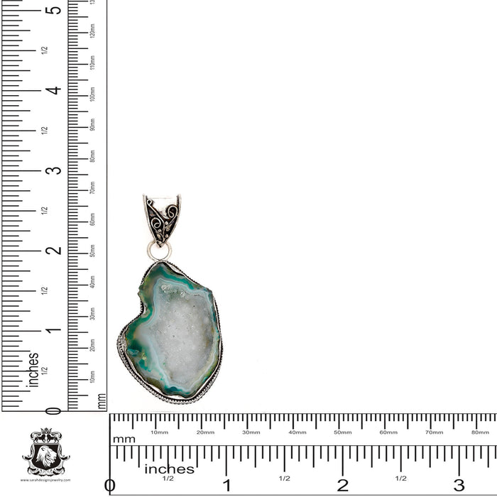 Tabasco Geode Pendant 4mm Snake Chain V613