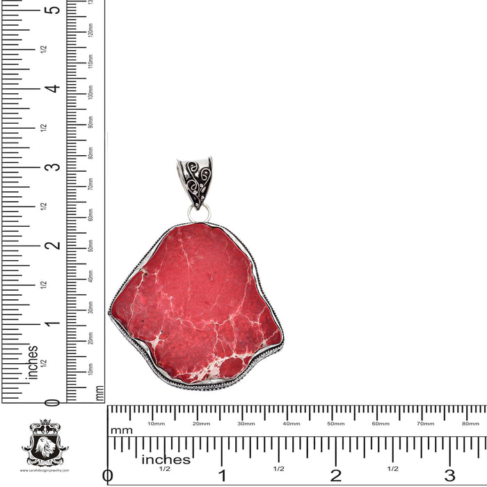 Sea Sediment Jasper Stalactite Pendant 4mm Snake Chain V444