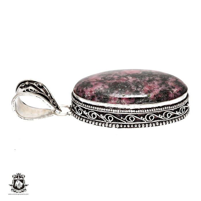 Rhodonite Pendant 4mm Snake Chain V1465