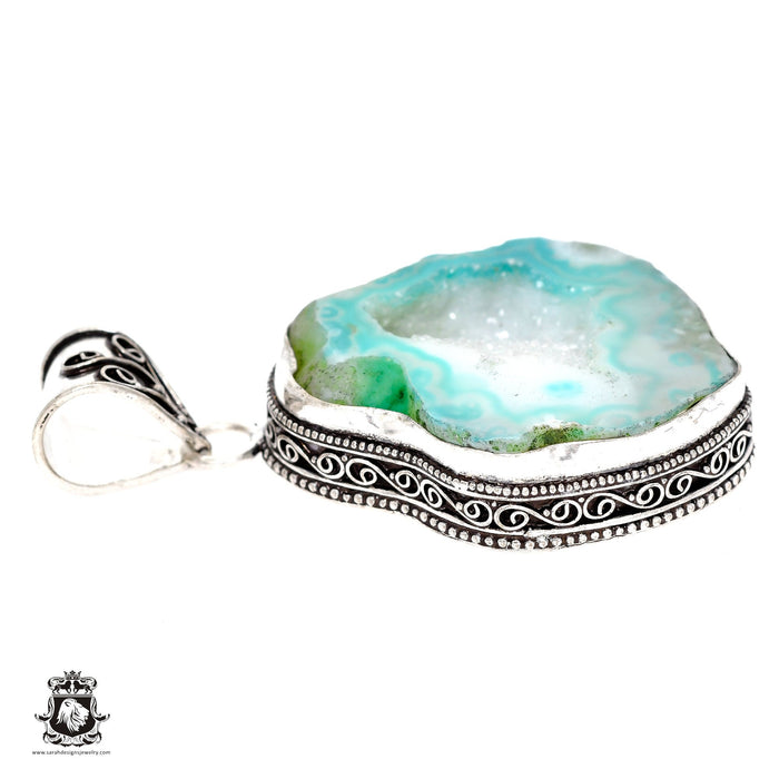 Tabasco Geode Pendant 4mm Snake Chain V603