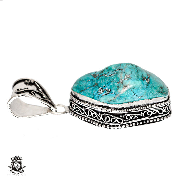 Turquoise Nugget Pendant 4mm Snake Chain V1480