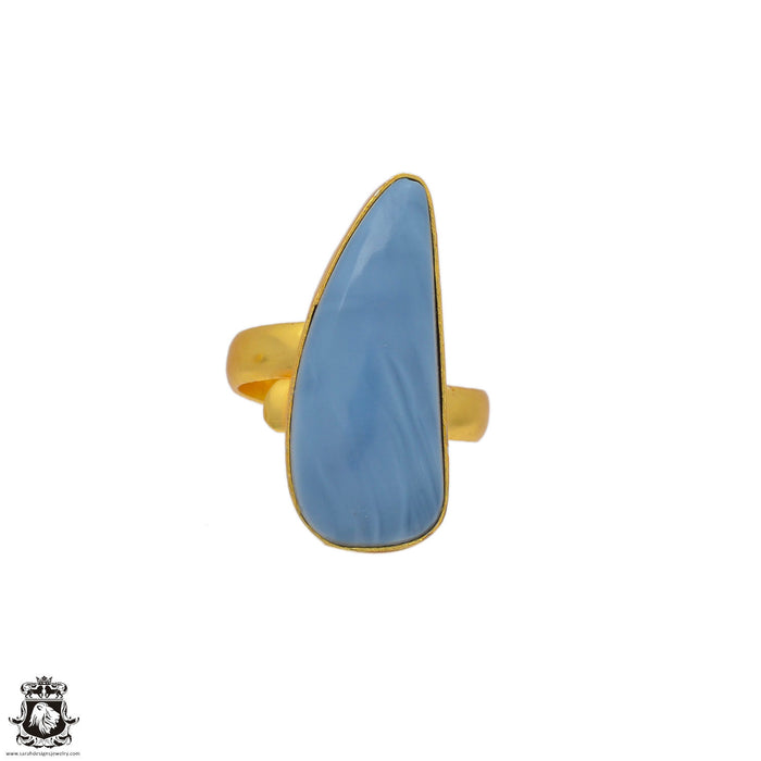 Size 7.5 - Size 9 Adjustable Owyhee Opal 24K Gold Plated Ring GPR128