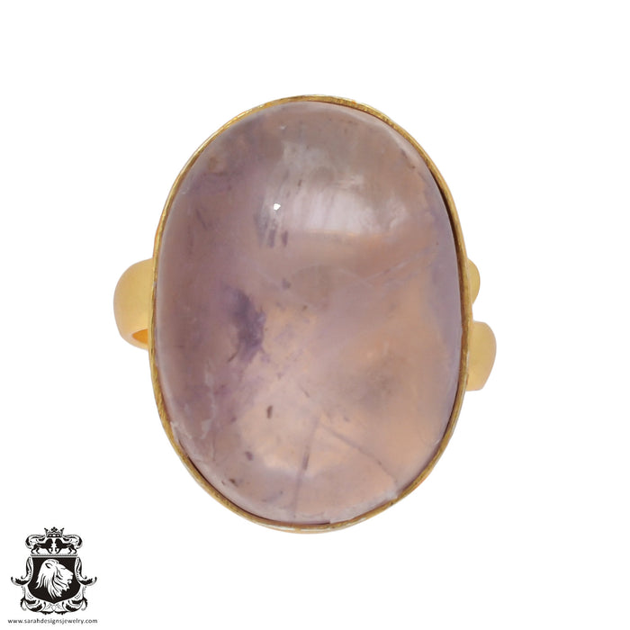 Size 7.5 - Size 9 Adjustable Ametrine 24K Gold Plated Ring GPR442