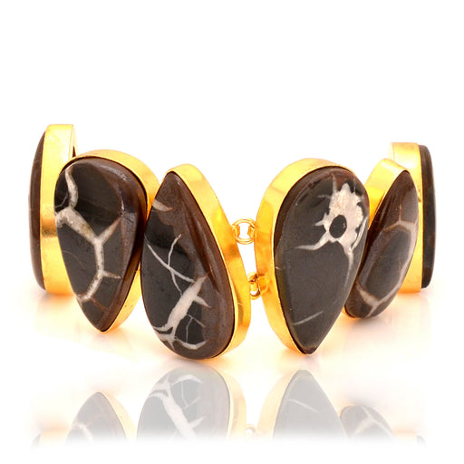 Septarian Nodule Gold Plated Bracelet GB48