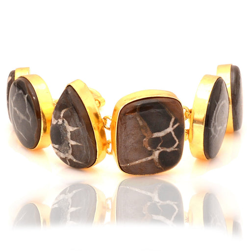 Septarian Nodule Gold Plated Bracelet GB54