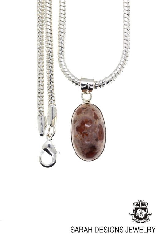 Fire Opal 925 Sterling Silver Pendant 4mm Snake Chain O5