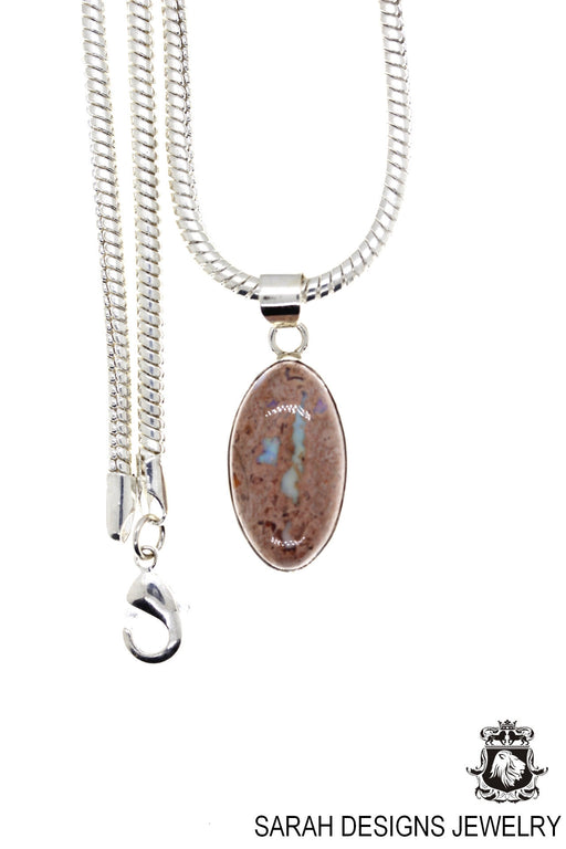 Fire Opal 925 Sterling Silver Pendant 4mm Snake Chain O16