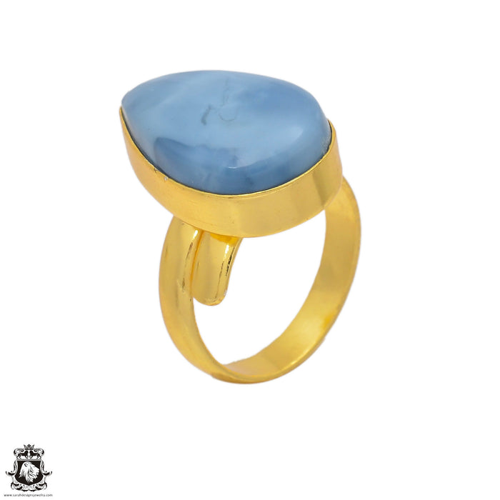 Size 8.5 - Size 10 Adjustable Owyhee Opal 24K Gold Plated Ring GPR131