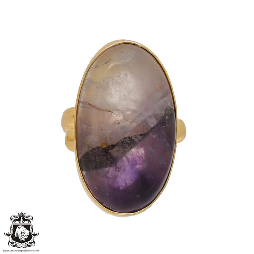 Size 7.5 - Size 9 Adjustable Ametrine 24K Gold Plated Ring GPR423