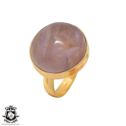 Size 8.5 - Size 10 Adjustable Ametrine 24K Gold Plated Ring GPR428