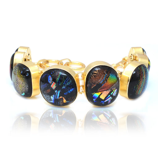 Dichroic Glass Gold Plated Bracelet GB5