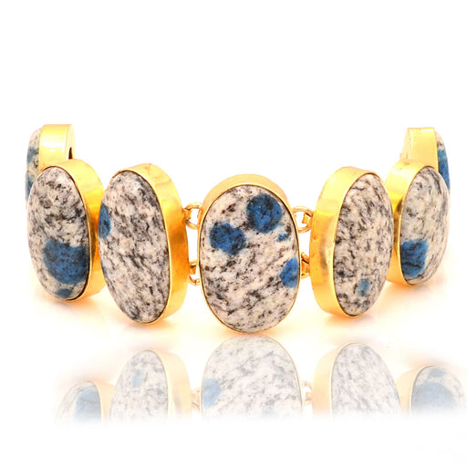 K2 Jasper Gold Plated Bracelet GB37