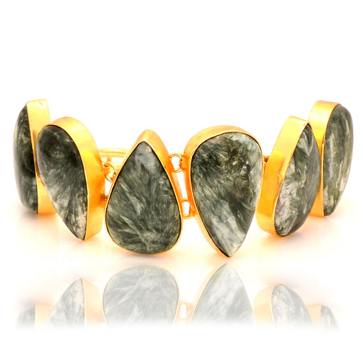Seraphinite Gold Plated Bracelet GB51