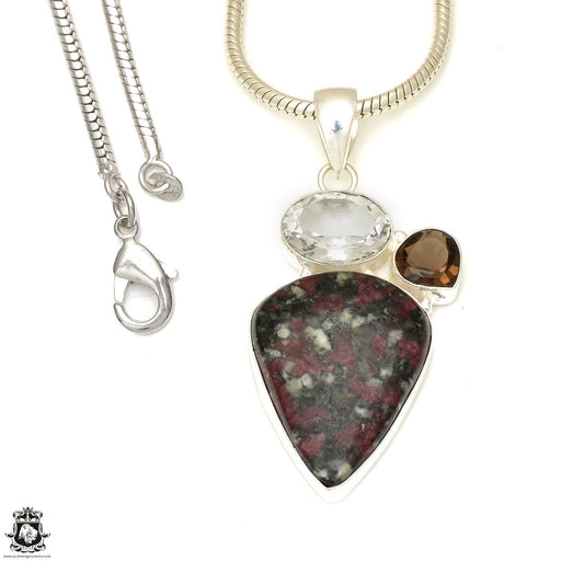 Eudialyte Pendant 4mm Snake Chain P7743